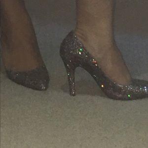 Chrisitan louboutin glitter shoes